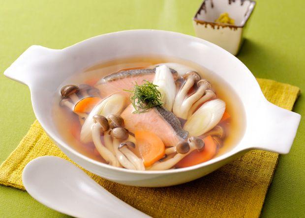 鮭としめじの香りスープ(レシピNo.2420)