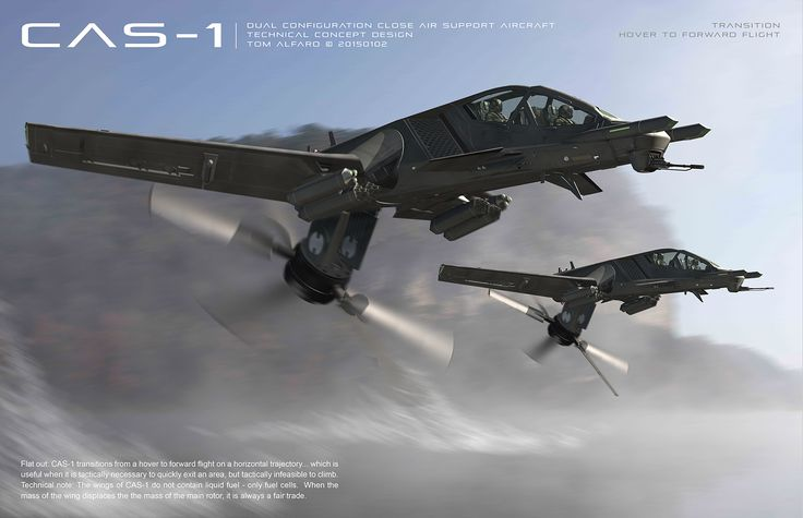 CAS-1 Dual Configuration Close Air Support Platform by Tom Alfaro