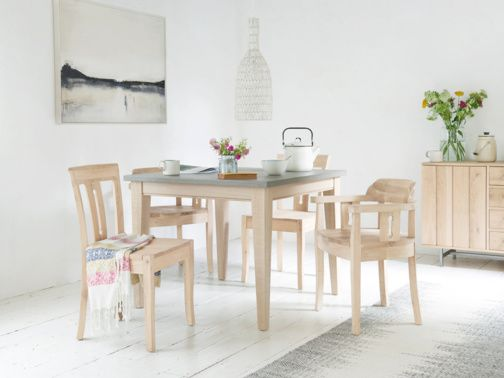 We've shrunk our mega-popular kitchen Conker table down to a handy square size. It's the wipeable concrete top that makes this spillproof beauty such a hit.