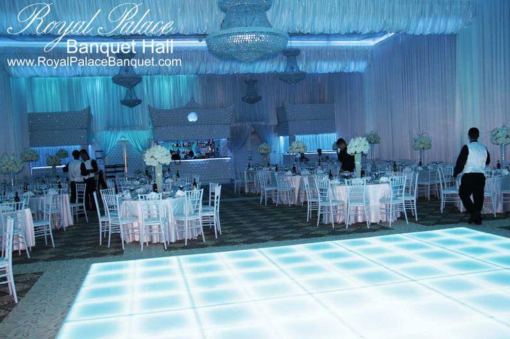 Blue Wedding Theme Lighting At Royal Palace Banquet Hall