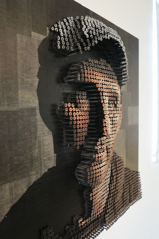 3D Shadow Portraits Made with Screws by Andrew Myers.
