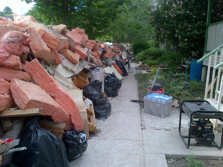 The 4th Street mountain of garbage #yycflood