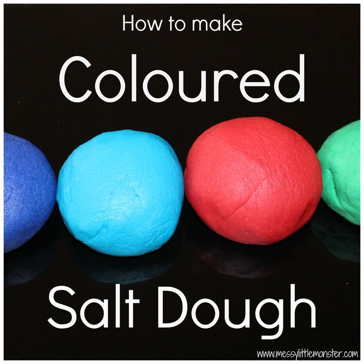 Messy Little Monster: How to make coloured salt dough
