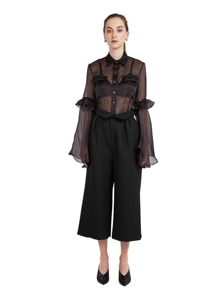 JH. Zane Black Nissi Cropped Trousers Image 0