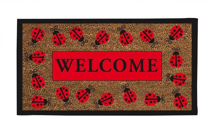 Amazon.com: Lady Bug Welcome Mat: Home & Kitchen