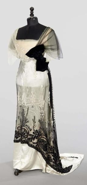 Paquin  (Winter 1911) EVENING DRESS drouot.com