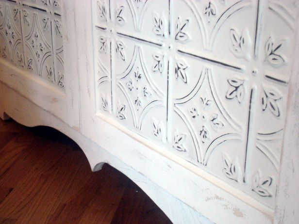 Easy Antique Painting Techniques | DIYNetwork.com: Tins Ceilings, Antiques Painting, Antiques Tins, Painting Techniques, Tins Panels, Tins Tile, Diy Network, Easy Antiques, Cabinets Doors
