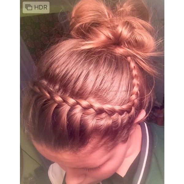 Volleyball hair It's so easy and cute ❤ liked on Polyvore featuring accessories and hair accessories