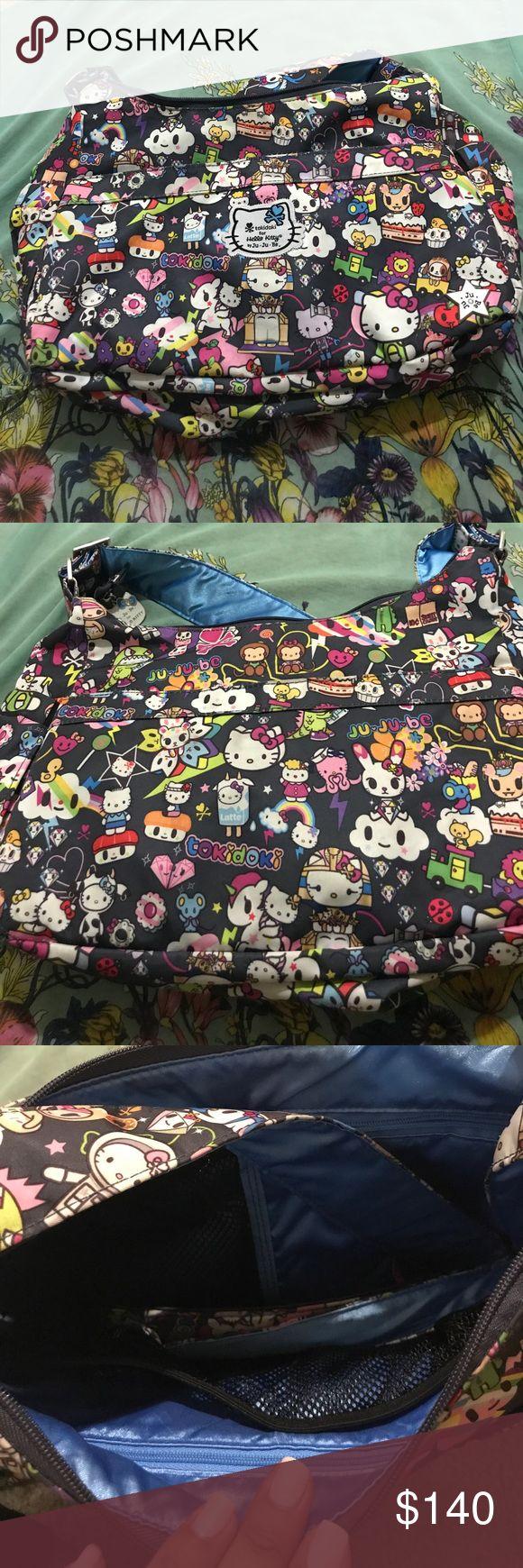 Tokidoki Hobobe Hello Kitty theme Bag Tokidoki Hobobe Hello Kitty theme Bag, gently used, changing pad included, machine washable tokidoki Bags Baby Bags