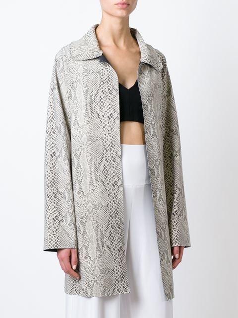 Norma Kamali manteau à motif peau de python Kamalikulture x Norma Kamali