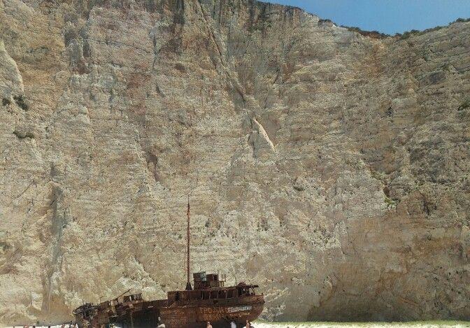 Shipwreck Zante, Greece