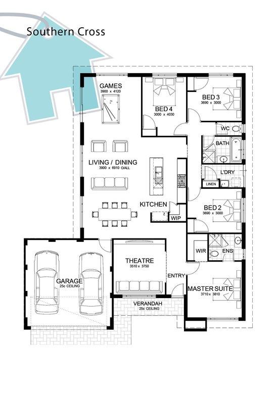 268 best Petite maisons images on Pinterest Floor plans, House - plan de maison plein pied gratuit