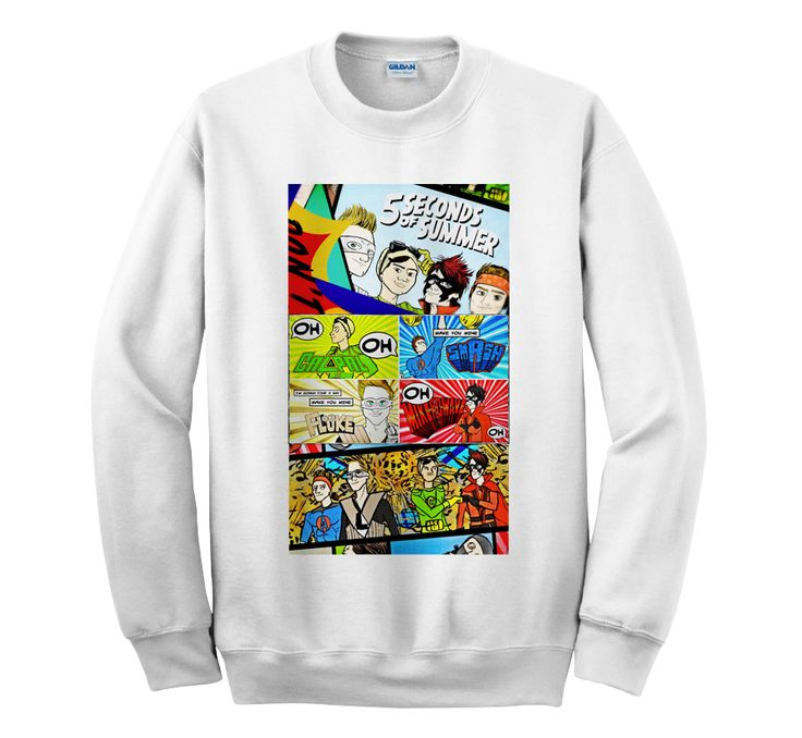 5SOS DONT STOP Comic Cartoon Style – Sweater