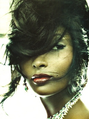 "Toccara Jones in Italian Vogue's ""All Black"" Issue, August 2008"