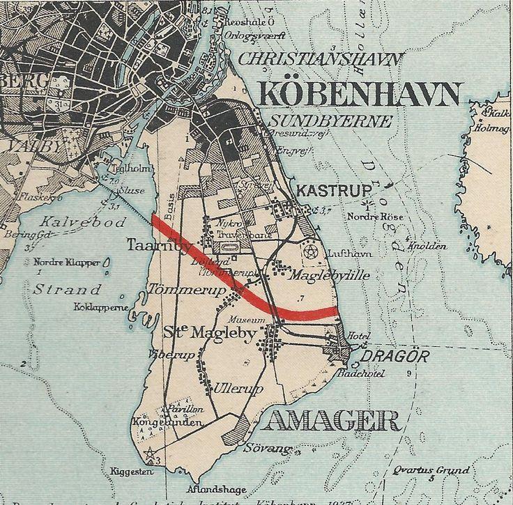 """Skibsfartskanal gennem Amager  Planer om en skibsfartskanal gennem Amager i 1937, var begrundet i forholdene ved broerne i København. Det hedder """"I gennem mange år har forholdene ved broerne over havnen været en kilde til stadig gene, og samtidig med at der i årenes løb er foretaget mange forbedringer, både af broerne og af de tilstødende færdselsveje, er trafikken forøget, således at ulemperne er nogenlunde uforandrede. #Skibsfartskanal #Amager"""