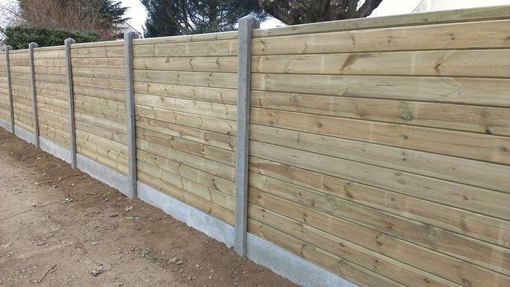 Bois & béton - Bois & béton - Les clôtures - Pose clôture ...