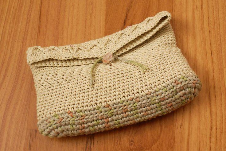 Crochet Clutch Purse Cream Crochet Handbag Vintage Style Crochet Purse Wedding Crochet Clutch Lined Purse Women Accessories Retro Clutch Bag by Hishuk on Etsy