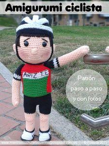 PATRÓN MUÑECO CICLISTA AMIGURUMI / CYCLIST AMIGURUMI DOLL PATTERN