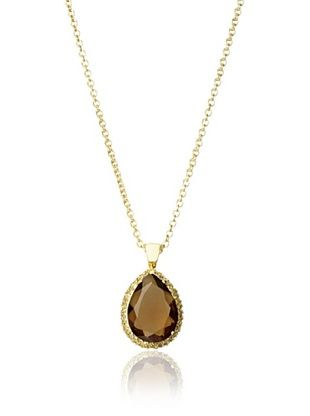 Kate Bissett Smoky Topaz CZ Pendant Necklace