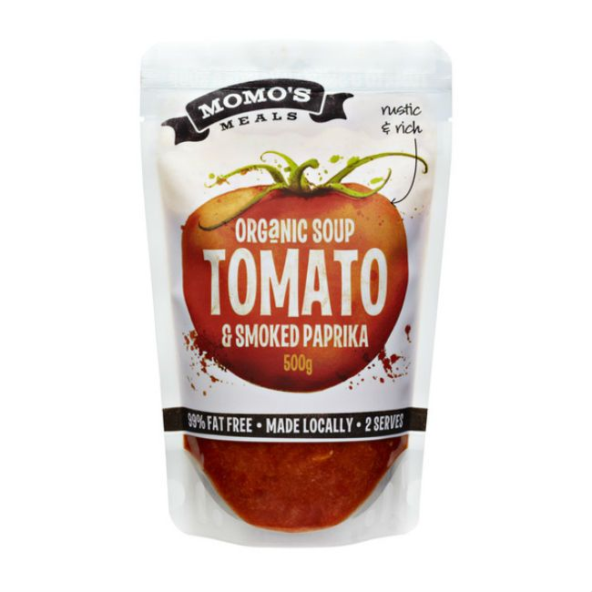 Momo's Meals stand up pouch for soup powder packaging. #sachet #plastique #plastic #bags #standuppouch #standuppouch #zipper