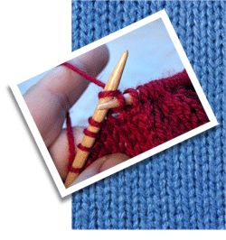beginner knitting instructions for the purl stitch