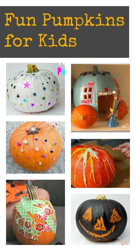 Top 10 ways to decorate pumpkins with kids :: simple pumpkin designs :: kids pumpkin crafts