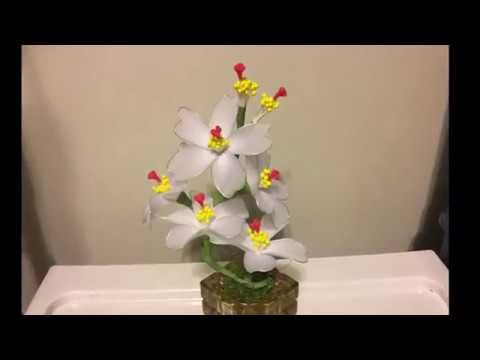 How to make a nylon stocking flowers