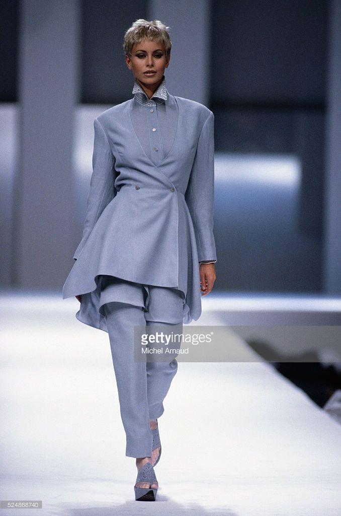 Niki Taylor Modeling Claude Montana Outfit