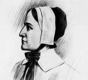 Anne Hutchinson. Wasn't afraid to stand up to the legalistic leaders in her church over unfair treatment of the Indians. Got kicked out of her town for her actions but stood strong in her beliefs.