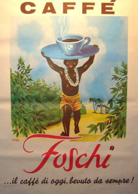 best free fine art coffee images | ORIG ITALIAN POSTER CAFE FOSCHI 1960 WONDERFUL COLORS - For Sale
