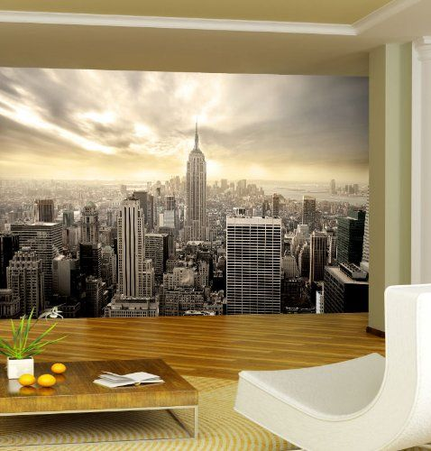 Wallpaper New York Skyline 165.3 x 106.3 inches Wall Murals Wall Decoration Dalinda http://www.amazon.co.uk/dp/B00AECUUK4/ref=cm_sw_r_pi_dp_h0zJtb0N5BZT6SVX