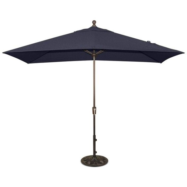 Beautiful Patio Umbrella, Outdoor 8u0027x10u0027 Rectangle Auto Tilt (3,305 ILS) ❤ Liked On  Polyvore Featuring Home, Outdoors, Patio Umbrellas, Navy, Rectangle Patio  ...