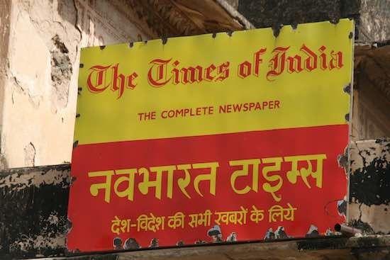 La rémunération des journalistes du Times of India variable selon le nombre de leurs alertes info diffusées sur WhatsApp