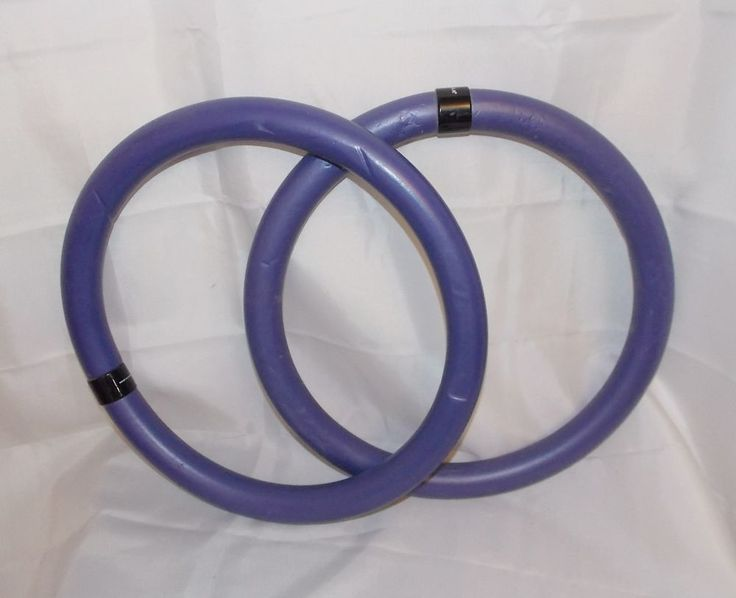 "GAIAM Rubber Fitness Exercise Rings Purple 11.5"" Diameter"