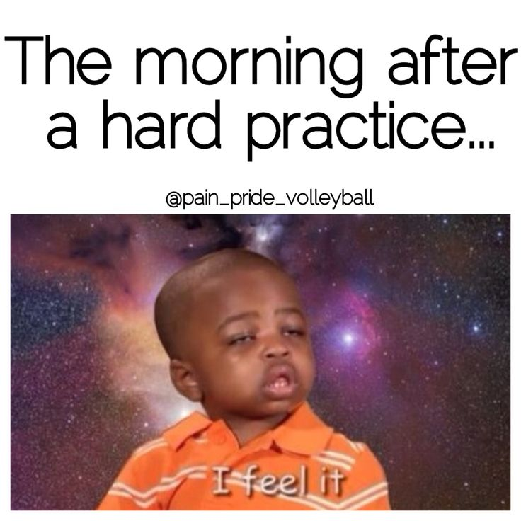 The morning after a hard practice! volleyball