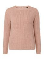 Womens Blush Jumper with Silver Zip- Pink