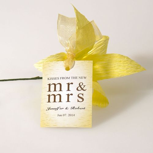 kisses from the new bridal shower wedding favor tags EWFR027 as low as $0.32 |
