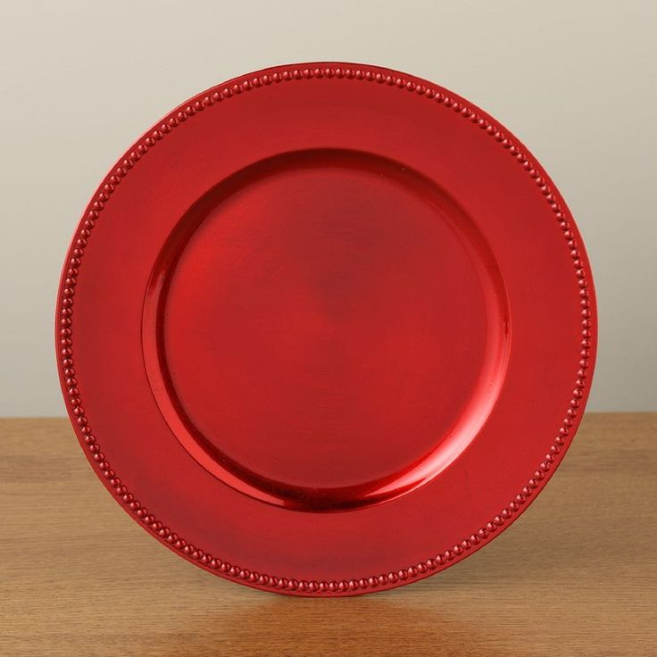Elegant Holiday Charger Plates In Red Gold Christmas