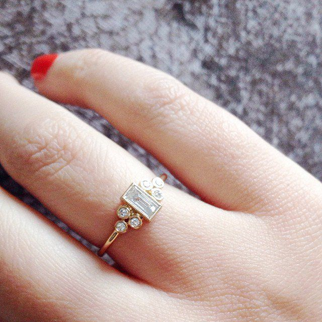 Pin for Later: 30 Small Real-Girl Engagement Rings With Big Impact A Decadent Design