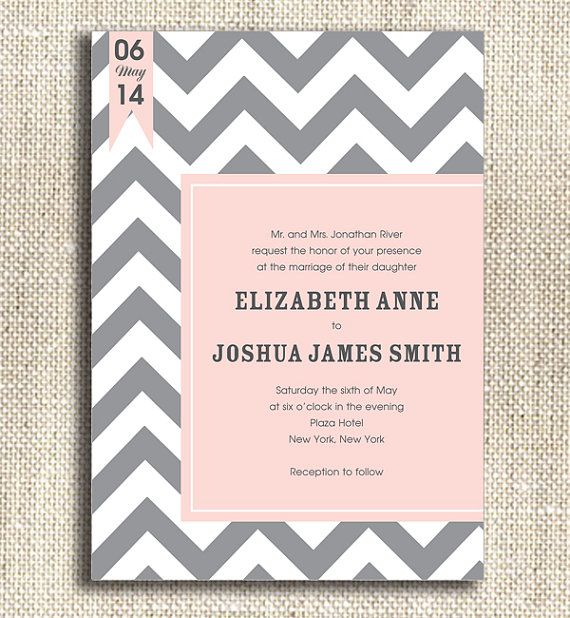 Best 25 Chevron wedding invitations ideas on Pinterest Wedding