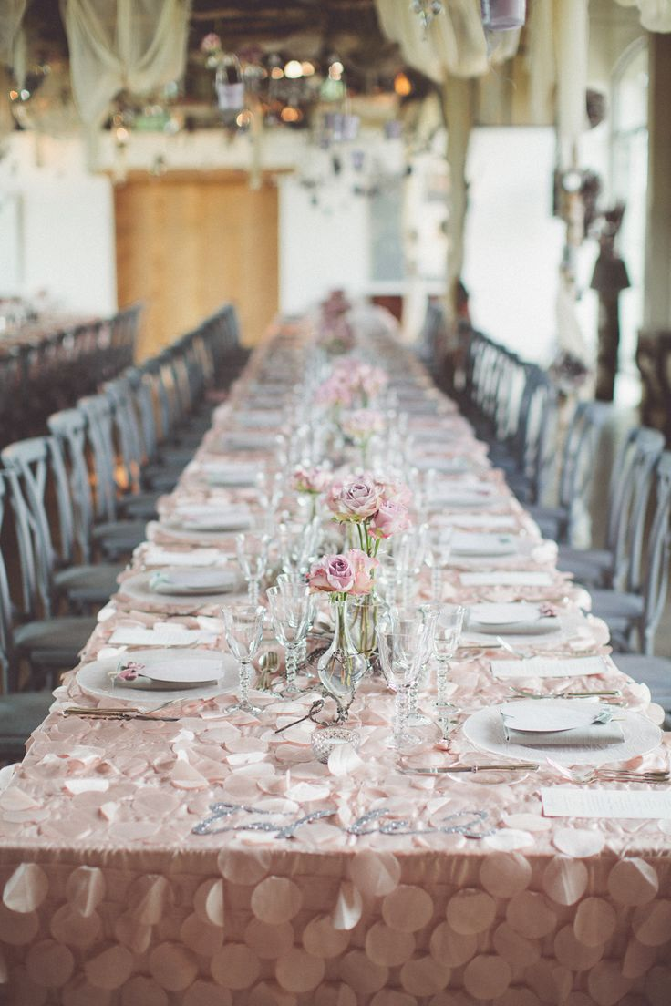 Pink And Gray Wedding Reception Ideas