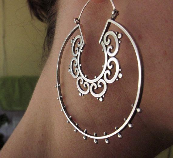 I love big earrings. #jewelry #earrings