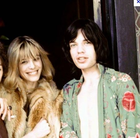 Mick & Anita Pallenberg = totally timeless.