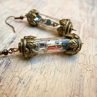 "morena's corner: DIY ""Time in a Bottle"" Steampunk Style Earrings"