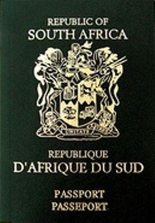 Old SA passport