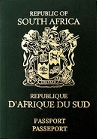 Old SA passport