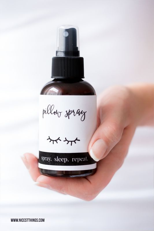 DIY Pillow Spray Pillow Mist Kissen Spray Kissenspray Rezept selber machen