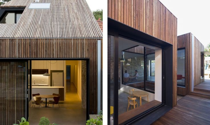 The Cut-away Roof House adds much needed space to an existing semi-detached interwar house in Sydney.