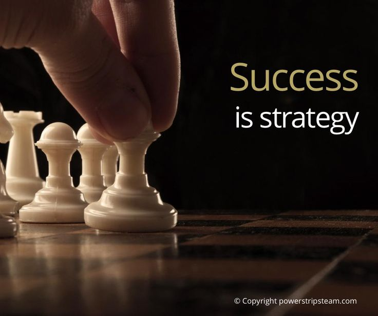 Success is strategy: http://bit.ly/1bQmhdT