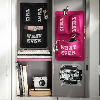 Black + Pink Pocket Essential Locker Accessory
